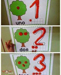 49 curtidas, 2 comentários - 🇹🇮🇦 👩🏫 🇩🇪🇧🇴🇷🇦 (@aprendendocomtiadebora) no Instagram Montessori Math, Preschool Learning, Kindergarten Activities, Learning Activities, Preschool Activities, Math For Kids, Crafts For Kids, Apple Theme, Home Schooling