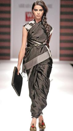 saree with belt - Google Search