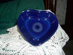 Fiesta Ware Small COBALT Blue Heart Shaped Bowl
