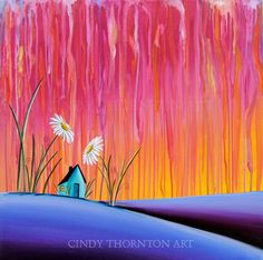 Where Flowers Bloom - Original Canvas Painting - Cindy Thornton Art. $250.00, via Etsy.