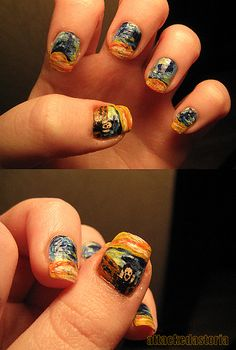 the scream nails