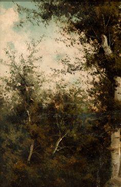 "SAINZ Y SAIZ, Casimiro (Matamorosa, Santander, 1853 – Madrid, 1898). ""Bosque"". Madrid, Spanish Painters, Museum, Painting, Woods, Sculpture, Art, Auction, Artists"