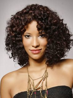 c47614752 New Arrival Top Quality African American Hairstyle Medium Small Curly Lace  Wig Human Hair 16 Inches