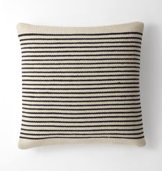 Woven Mohair Striped Pillow Cover - | Rejuvenation