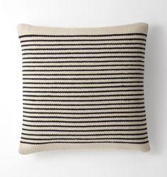 Woven Mohair Striped Pillow Cover -   Rejuvenation