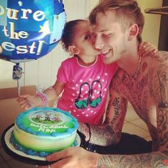 MGK & His daughter, Happy Fathers Day (: