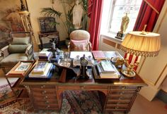Inside Clarence House, Prince Charles' Home Desk - Scene Therapy Clarence House, Prince Charles, English Country Decor, Royal Residence, Home Desk, Therapy, Scene, Table, Houses