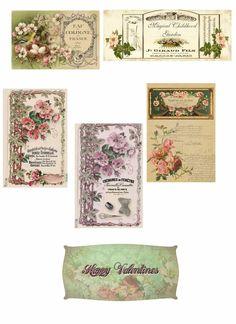 free printable paris labels | Rare Free Printable Paris Stamped Vintage Gift Tags/Craft Decor