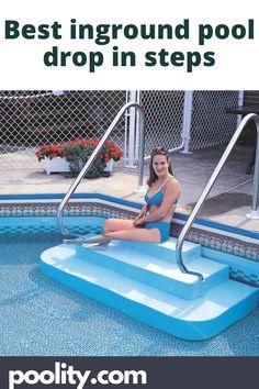 best inground pool drop in steps Pool Steps Inground, Swimming Pool Steps, Intex Pool, Above Ground Pool Heater, Best Above Ground Pool, In Ground Pools, Pool Hacks, Pool Accessories, Pool Supplies