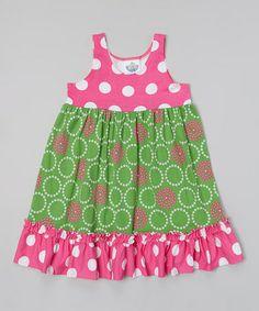 Look what I found on #zulily! Green Perfect Circle Beach Dress - Infant, Toddler & Girls #zulilyfinds