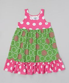 Look what I found on #zulily! Green Perfect Circle Beach Dress - Infant, Toddler & Girls #zulilyfinds
