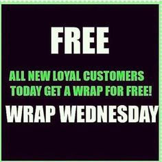 guess what today is?! It's wrap Wednesday! I want to get you going with your first box of wraps at 40%off! Comment