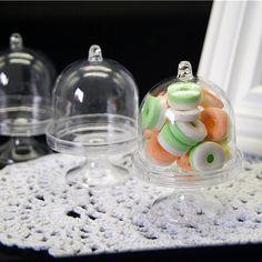 Spedizione gratuita mini trasparente torta di plastica trasparente bomboniera caramella, GZSQ9