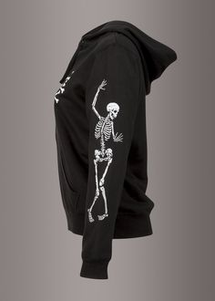 Rad to the Bone Skeleton Full Zip Hoodie