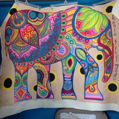 Indian Elephant Painting acrylic on canvas by MarvelousMurals