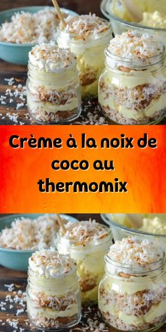 thailand food and drink Dessert Thermomix, Vegan Ice Cream, Street Food, Mousse, Food Processor Recipes, Deserts, Brunch, Food And Drink, Dessert Recipes