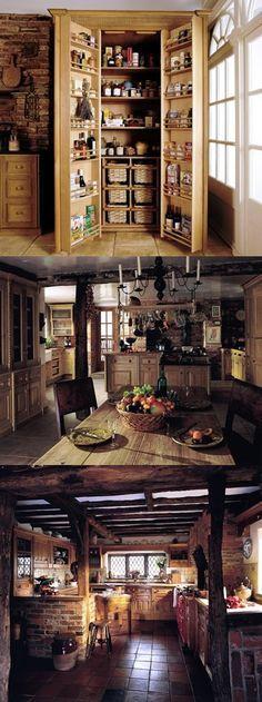 Spanish kitchen love tile floor kitchen ideas - Disenos de chimeneas rusticas ...