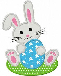 Easter Bunny  Applique Machine Embroidery Design NO:1271. $2.99, via Etsy.