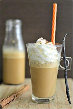 Iced Coffee de baunilha e canela - http://gostinhos.com/iced-coffee-de-baunilha-e-canela/