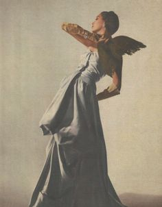 A Charles James design originally made for Millicent Rogers, photographed byLouise Dahl-Wolfe, Harper's Bazaar, 1947.