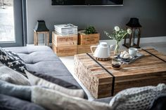 Nordic feeling  {coffee table}  Here again a project by Shoko Design, Poland, rightly called by them « Nordic Feeling ». brick walls, neutral tones are obviously Scandinavian style, an inexhaustible source of inspiration. /Planete Deco
