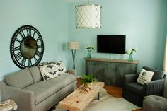 South Tampa Home - transitional - living room - tampa - The Blue Moon Trading Company