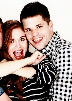 Holland Roden & Max Carver at The Full Moon Is Coming Back Convention in France * * *
