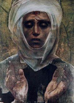 Pietro Annigoni - Study of a prophet