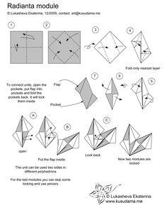 Kusudama Radianta Module Diagram