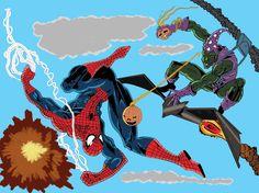 Spider man x Green Goblin