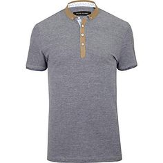 Blue contrast pique polo shirt - polo shirts - t-shirts / vests - men ($20-50) - Svpply