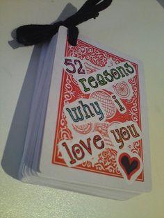 Based on 52 Reasons Why I Love You by Miranda W.