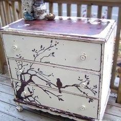 I like the idea of painting on my dresser
