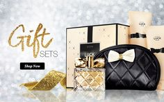 AVON Luck for Her Collection Gift Set. Rich in sparkling citrus and luscious berries, wrapped in creamy white florals, velvety rose petals and warm sandalwood.  An extravagant fragrance that lasts all day. Boxed set includes: *Eau de Parfum 1.7 fl. oz.*Body Lotion 6.7 fl. oz. *Shower Gel 6.7 oz. *Exclusive Quilted Cosmetic Bag.  4-piece Gift Set for only $28. $69 dollar value!   Shop at! www.youravon.com/mferguson1172