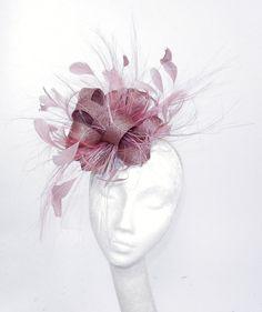Pink Fascinator Hat for Weddings Cocktails by Hatsbycressida, $100.00