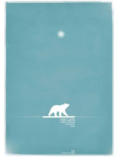 Here is a small selection of animals in a minimalist design, via illustration, typography, logotype, webdesign and a interactive project to discover. Web Design, Logo Design, Graphic Design, Global Warming Poster, Save The Arctic, Animal Cutouts, Logos, Bear Illustration, Logo Creation
