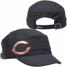 '47 Brand Chicago Bears Ladies Sparkle Fidel Adjustable Hat - Navy Blue