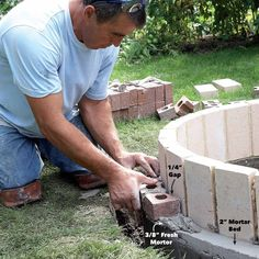 How to Build a DIY Fire Pit — The Family Handyman Fire Pit Base, Easy Fire Pit, How To Build A Fire Pit, Large Fire Pit, Cool Fire Pits, Fire Fire, Fire Pit Landscaping, Fire Pit Backyard, Landscaping Ideas