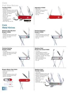 Wenger Swiss Army Knife Catalog Page 2002 - 2003 Wenger Swiss Army Knife, Ring Cleaner, Survival Tips, Edc, Knives, Blade, Catalog, Pocket Knives, Brochures