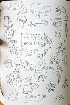 Autumn doodling almost 70 easy to make doodles for in your bullet journal - Bullet Journal Tracking, 2017 Bullet Journal, Bullet Journal Weekly Layout, Bullet Journal Cover Ideas, Self Care Bullet Journal, Bullet Journal Monthly Spread, Bullet Journal Notebook, Bullet Journal Themes, Bullet Journal Inspiration