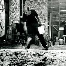 "Jackson Pollock / "" Expressionnisme abstrait"" - ""Action painting""   Photo de Hans Namuth"