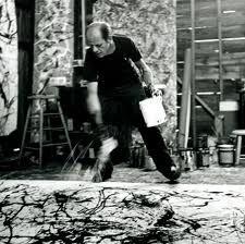 """Jackson Pollock / """" Expressionnisme abstrait"""" - """"Action painting""""   Photo de Hans Namuth"""