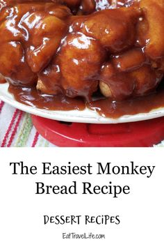 Want to know how to make monkey bread? We have an easy monkey bread recipe. It saves you time and is so ooey gooey good that you can eat with your fingers. Homemade Desserts, Fun Desserts, Delicious Desserts, Dessert Recipes, Bread Recipes, New Recipes, Amazing Recipes, Yummy Recipes, Favorite Recipes