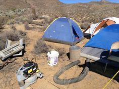 Un poco del campamento y mi carpa toda parchada (2015)