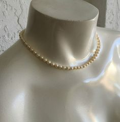 ANTIQUE 10K GOLD PEARL NECKLACE