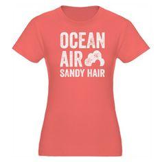 Ocean Air Sa Organic Women's Fitted T-Shirt #beach #summer #vintage