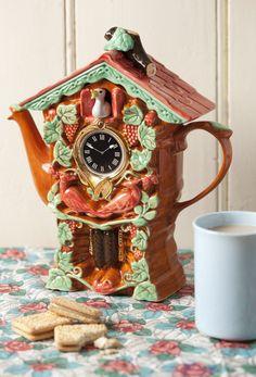 Handmade Cuckoo Clock Teapot