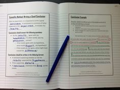 Use these interactive notebook pages to introduce and explain how to create a good scientific conclusion after an experiment