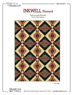 Inkwell Diamond by Heidi Pridemore, using Judie Rothermel Inkwell fabric