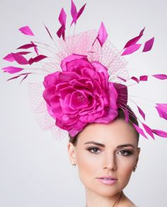 """Alyssa"" Pink Fascinator<br>       by Arturo Rios"